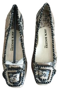 Jack Rogers New Embossed Leather Snakeskin Flats