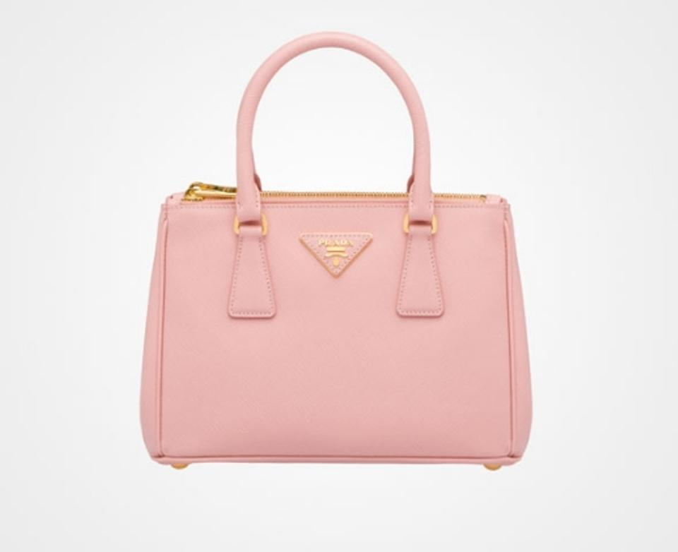 pink prada backpack - Prada Saffiano Double Zip Mini Pink Cross Body Bag | Cross Body ...