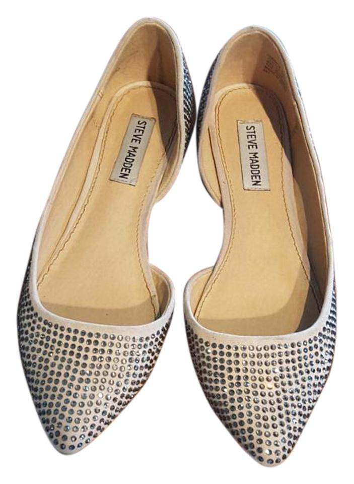 1c3e0d6f4a6d2 Steve Madden Nude Sparkle Formal Party Chic Flats Size US 6.5 ...