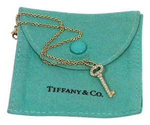 Tiffany & Co. Tiffany & Co Vintage Oval Yellow Gold Diamond Key Pendant Plus FREE Bracelet/Anklet BONUS