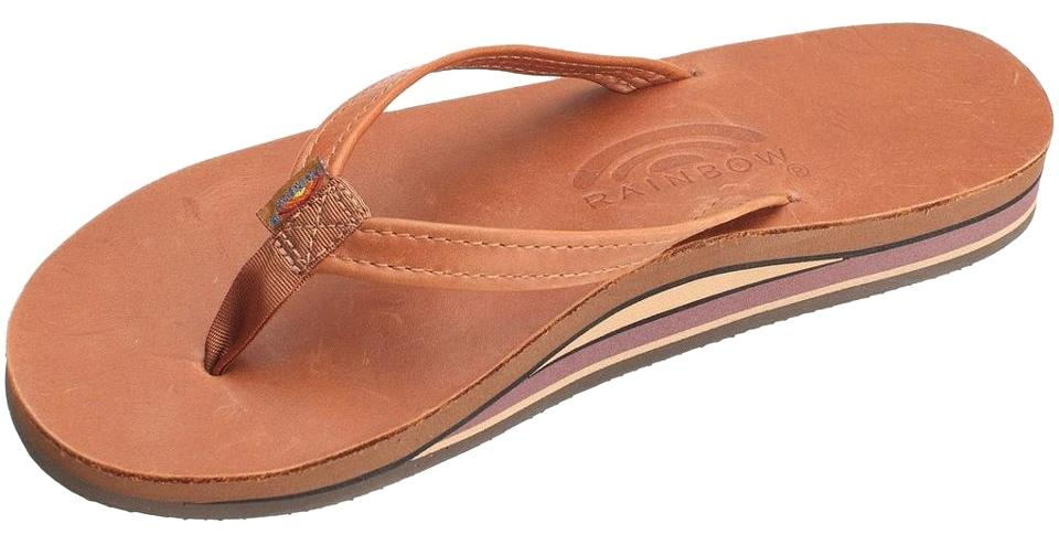 ad7d917f8 Rainbow Sandals Tan Double Layer Classic Leather Narrow Strap ...
