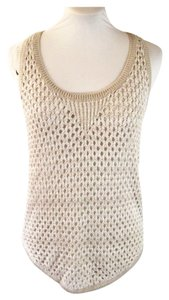 Club Monaco Tank Crochet Knit Sleeveless Sweater
