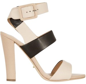 Sergio Rossi Stiletto Black & Beige Sandals