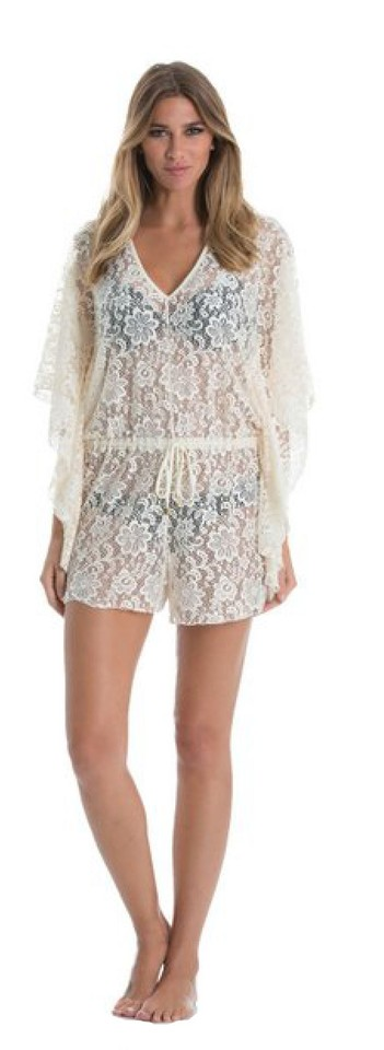 47b4ea3b2c0 Elan Natural Butterfly Sleeve Romper Cover-up Sarong Size 8 (M) - Tradesy