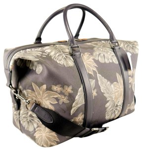 Coach Grey Leaf Print Travel Bag