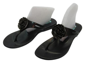 Okal Size 8.00 Very Good Condition Black Sandals