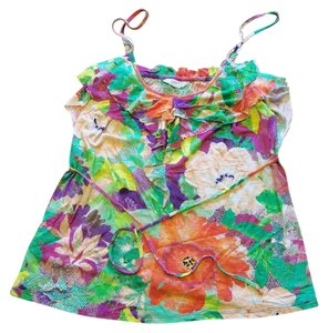 Candie's Colorful Cool Floral Top multi bright