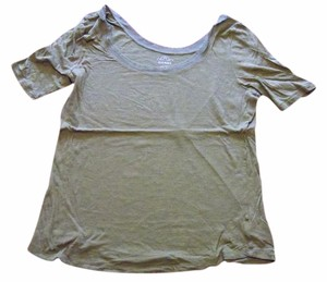Old Navy Neck Detailing Nice Fabric T Shirt Olive green