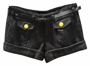 Guess Cuffed Shorts Black with Metallic Black Threading