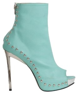 Ryan Haber Monster Open Toe Studded Sexy Comfortable Green Blue Mint Boots