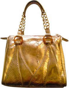 Rene Caovilla Leather Snakeskin Swarovski Shoulder Bag
