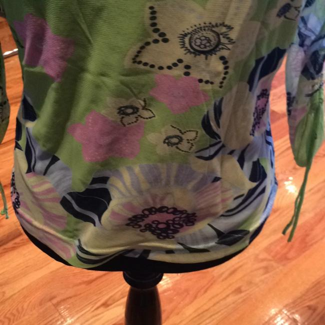 Bianca Top GREEN with FLORAL Image 2