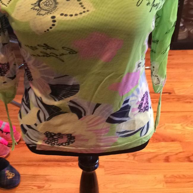 Bianca Top GREEN with FLORAL Image 6