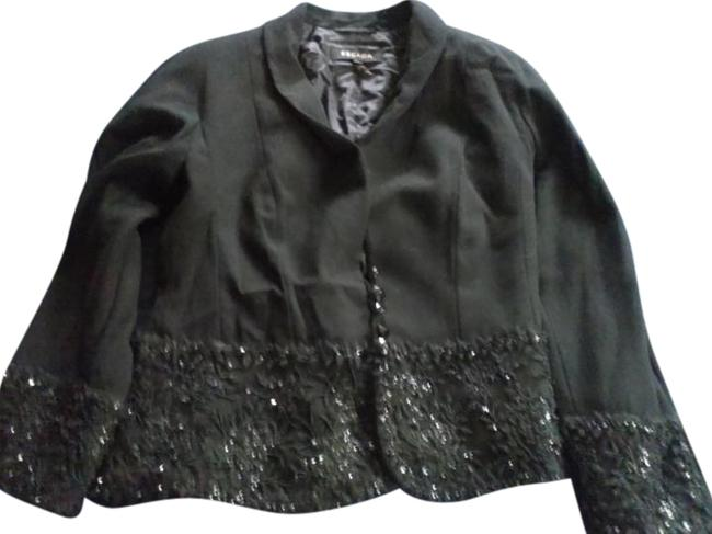Preload https://img-static.tradesy.com/item/15255094/escada-black-wool-with-lace-and-stones-on-bottom-and-sleeve-spring-jacket-size-10-m-0-1-650-650.jpg