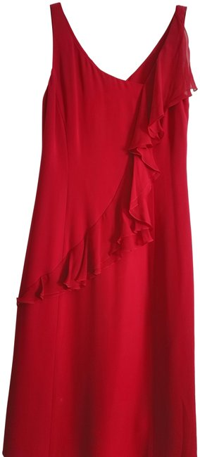 Preload https://img-static.tradesy.com/item/15255253/giorgio-armani-red-42-with-ruffle-across-long-night-out-dress-size-6-s-0-3-650-650.jpg