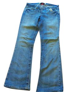 Mossimo Supply Co. Size 9 Distressed Boot Cut Jeans-Medium Wash