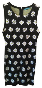 Alice + Olivia short dress Black & white Knit on Tradesy