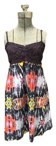 Rip Curl short dress Black, Orange, Yellow, Pink, Gray Tribal print on Tradesy