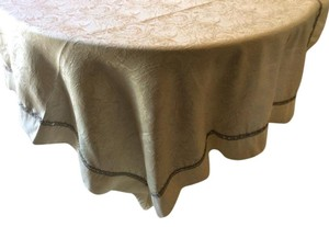 Champagne Tablecloth With Stone Trim