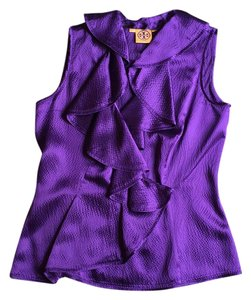 Tory Burch Embossed Top Purple