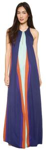 Purple/Mint/Claret Maxi Dress by Diane von Furstenberg Maxi Flowy