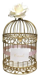Gold Birdcage For Wedding Cards
