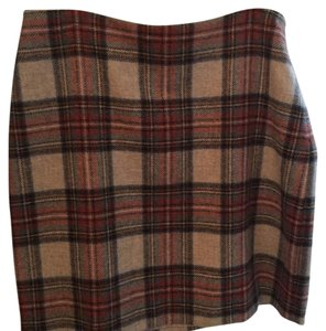 Boden Mini Skirt Red and tan