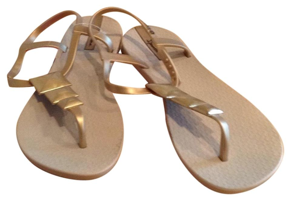 Gold Gold Sandals Tan Tan Tan Grendene And Sandals And Gold Grendene Grendene And Ybf76yg