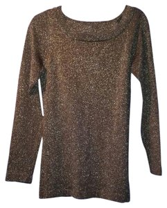 89th & Madison Top Bronze Glitter
