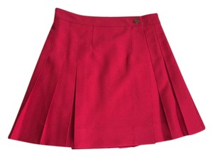 QMack Pleated Extra Small Skirt Red