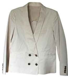 J.Crew Lined Cotton Small cream/off white Blazer