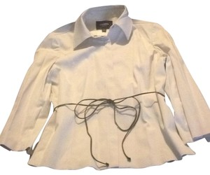 Express Button Down Shirt Off White