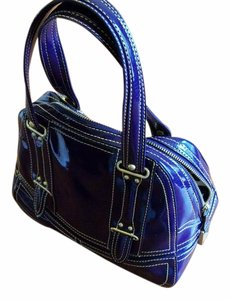 Maxx New York Gold Hardware Satchel in eggplant purple
