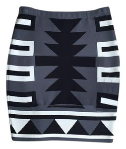 Rachel Roy Tube Skirt Multi Grey, Black, White