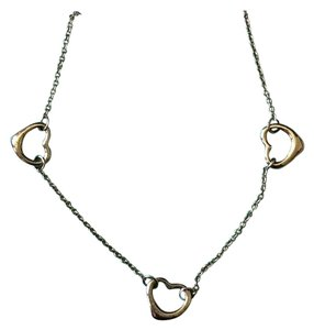 Tiffany & Co. Tiffany and Co. Vintage Sterling Silver Elsa Peretti Triple Open Heart Necklace