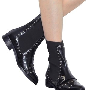 Opening Ceremony Studded Leather Black Boots