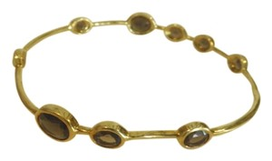 Ippolita Ippolita 18k LOLLIPOP gold bracelet with smokey topaz stones