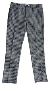Gap Slim Crop Size 00 Print Capri/Cropped Pants Black/White