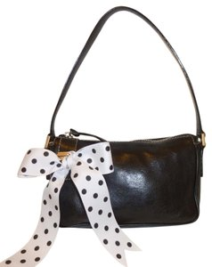 Michael Kors Ribbon Polka Dot Leather Shoulder Bag
