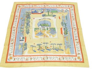 Hermès NEW Authentic HERMES Retour A La Terre 100% Silk Shawl Wraps Scarf 35