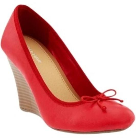 Old Navy Red Wedges