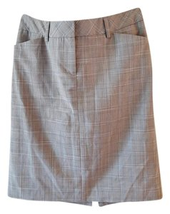 Express Skirt Gray with blue and gray checkered