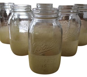 Yellow Glitter Mason Jars