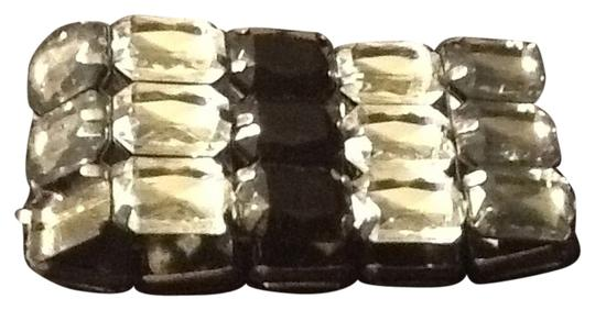 Other Black And Clear Stone Stretch Bracelet