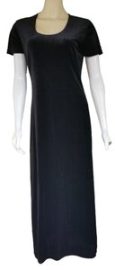 Halston Pull=on Velour Sheath Dress