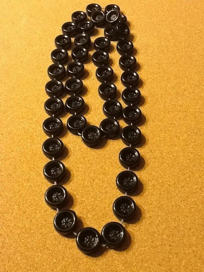 Other Black Shiny Button Necklace