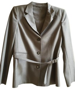 Gucci Tom Ford for Gucci Vintage Runway Mauve Wool Belted Jacket & Long Skirt Suit