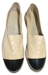 Chanel Beige with black Flats