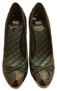Dolce&Gabbana D&g Dolceandgabanna Evening peacock green with black patent leather Pumps