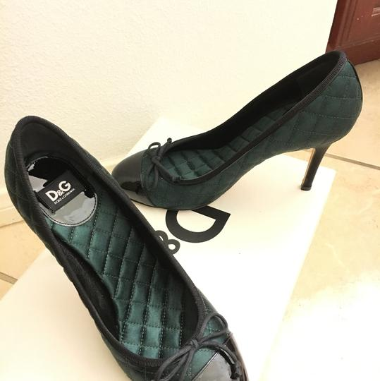 Dolce&Gabbana D&g Dolceandgabanna Evening Classic peacock green with black patent leather Pumps Image 1